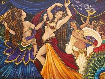 Fabulous Friday – Colorful Bellydance Painting