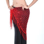Sequin Hip Scarf - Red