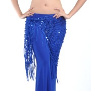 Sequin Hip Scarf - Blue