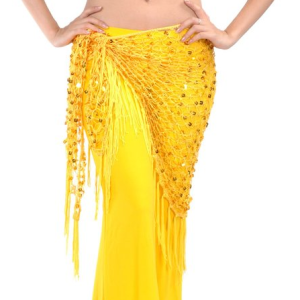 Sequin Hip Scarf - Yellow
