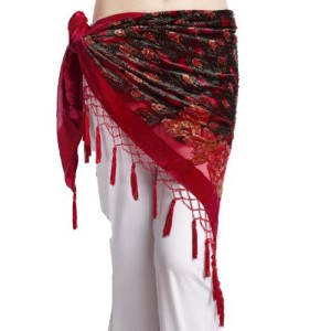Feimei Women's Belly Dance Trangular Hip Scarf Grade Velvet
