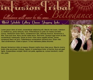 2007 inFusion Tribal Website Mock Up
